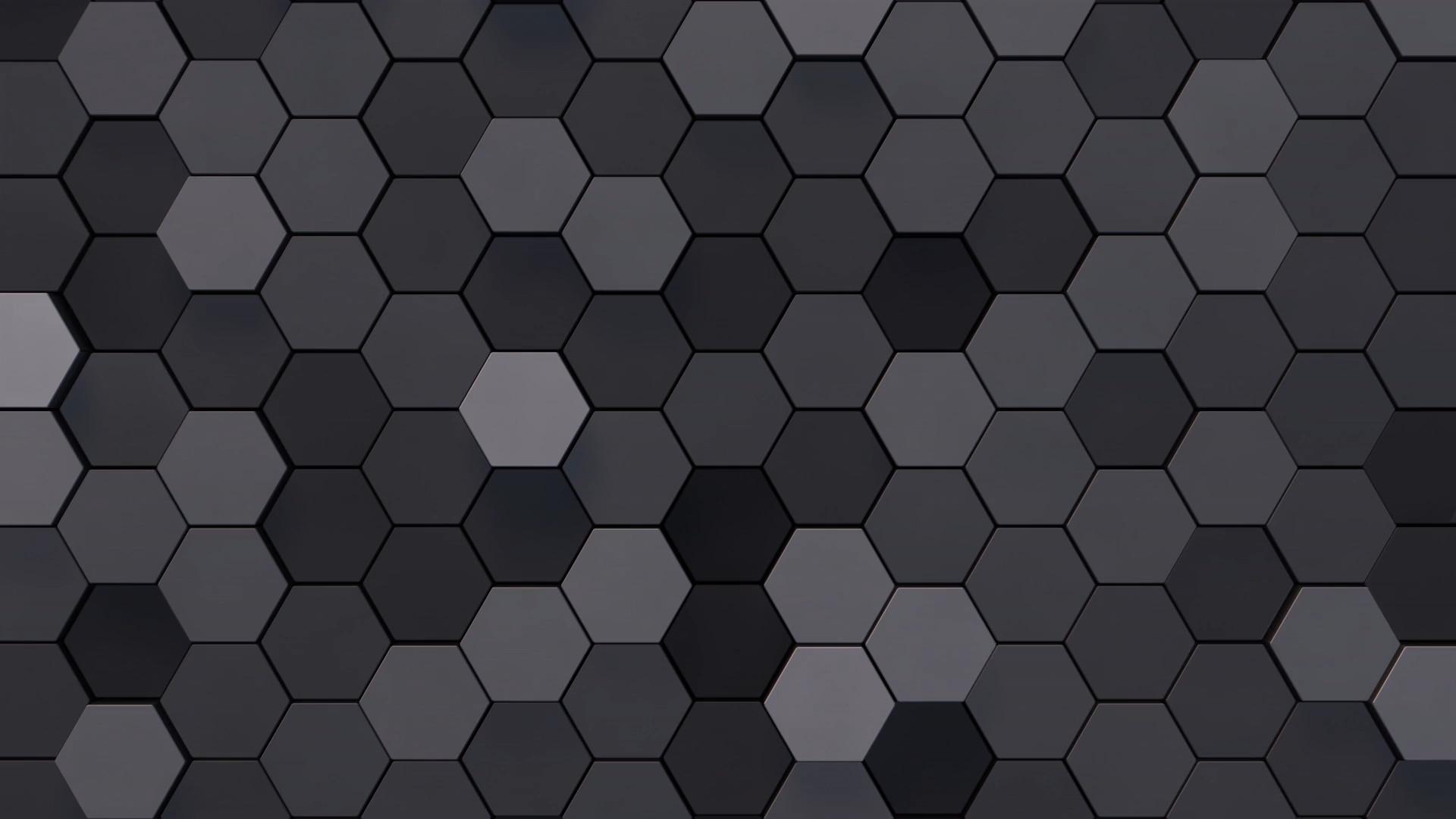 flat hexagons