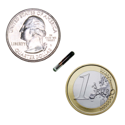 Chip implant scale coins