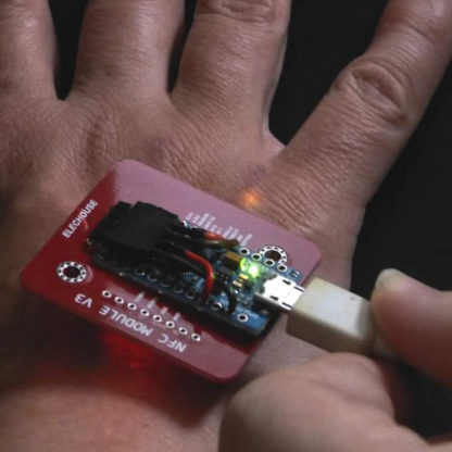 LED Implant Dangerous Things xSIID NFC Dsruptive KSEC